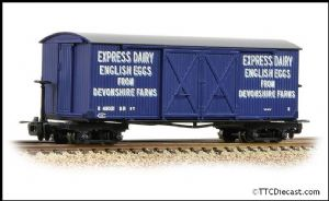BACHMANN 393-029 Bogie Covered Goods Wagon 'Express Dairy Company' Blue